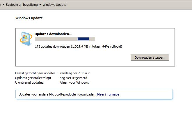 Even Windows updaten...